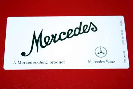 Mercedes w460 a mercedes benz product sticker for A mercedes benz product sticker